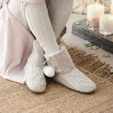 The White Company Cable Pom-Pom Slipper Boots