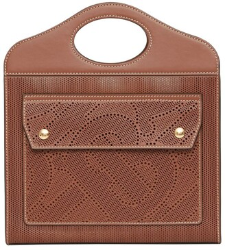 Burberry Mini Leather TB Monogram Pocket Bag