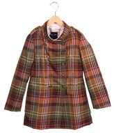 Oscar de la Renta Girls' Wool Plaid Coat w/ Tags