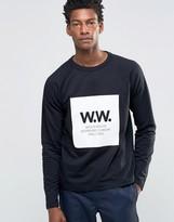 Wood Wood Tyrone Sweatshirt Box Logo Lightweight
