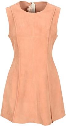 Marni Sleeveless Suede Tunic Dress