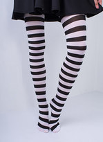 Missy Empire Buffy Black And White Striped Tights