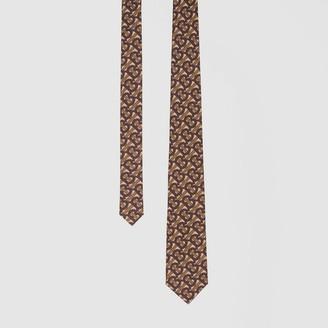 Burberry Classic Cut Monogram Print Silk Tie