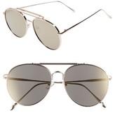 Leith Women's Mirrored Aviator Sunglasses - Black/ Gold