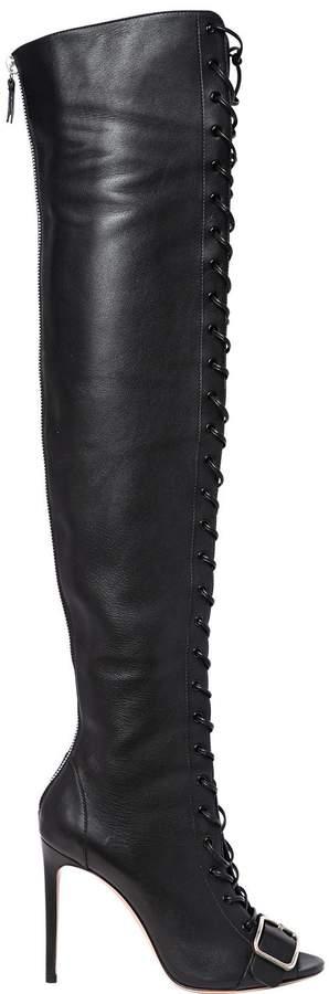 Casadei 100mm Elena Perminova Leather Boots