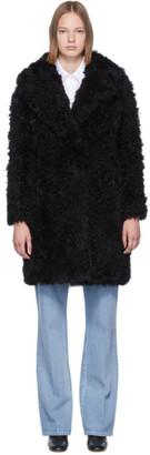 Yves Salomon Meteo Meteo Black Curly Shearling Coat