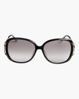 Gucci Cutout-Temple Oversize Sunglasses
