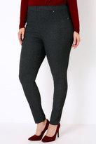 Yours Clothing Black & Grey Paisley Print Jeggings