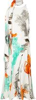 Christian Siriano tie-fastening printed dress - women - Silk/Spandex/Elastane/Viscose Crepe - 6