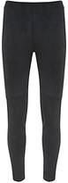 Mint Velvet Short Faux Suede Zip Treggings, Black
