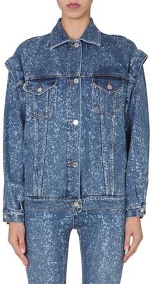 MSGM Shoulder Detailed Denim Jacket