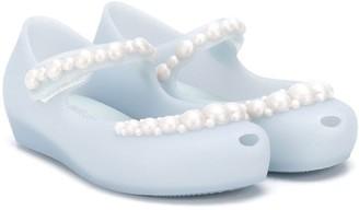 Mini Melissa Pearl-Embellished Ballerina Shoes