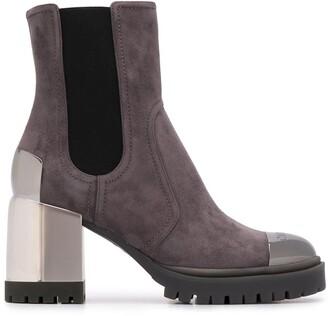 Casadei Contrast-Panel High-Heel Boots