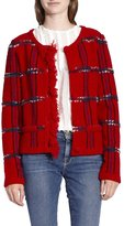 Moschino Boutique Plaid Jacket Red