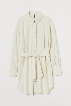 H&M Cotton Shirt Dress - White