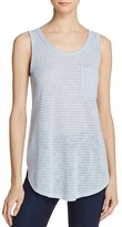 Aqua Striped Side Slit Tank - 100% Exclusive