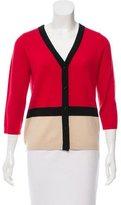 Kate Spade Colorblock Wool Cardigan