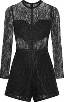 Alexis Jacob lace and tulle playsuit