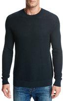 Vince Mesh Crewneck Sweater, Forest