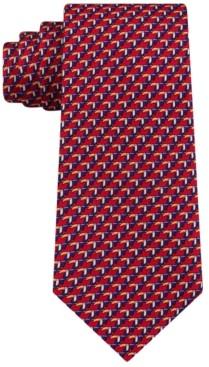 Tommy Hilfiger Men's Classic Small Toucan Silk Twill Tie