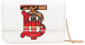 Burberry Leather Monogram Chain Card Case