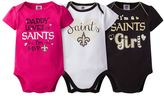 Baby Girl New Orleans Saints 3-Pack Bodysuits
