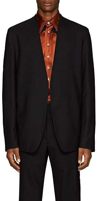 Maison Margiela Men's Virgin Wool Open-Front Sportcoat - Black