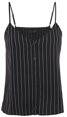 ATM Anthony Thomas Melillo Pinstriped Woven Camisole