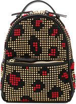 Les Petits Joueurs studded leopard patch backpack