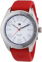 Tommy Hilfiger Women's 1781258 Red Silicone Analog Quartz Watch with Dial