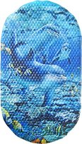 Camilla And Marc Papillon 69 x 39 cm Safety Bath Dolphins Mat, Blue