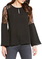 Collective Concepts Bell Sleeve Lace Top