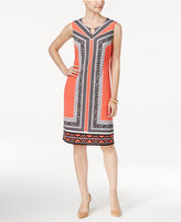 JM Collection Printed Shift Dress, Only at Macy's