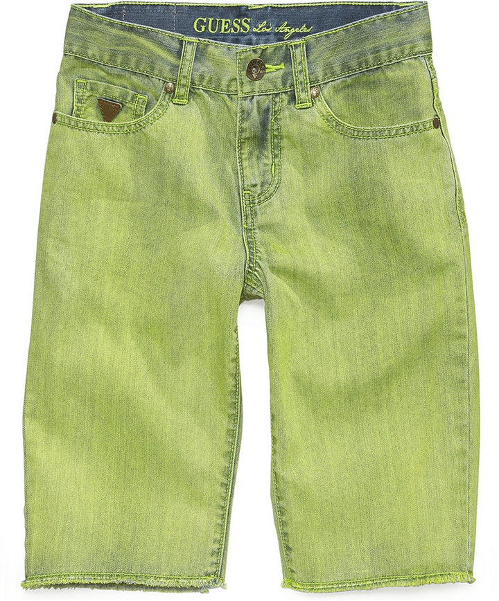 GUESS Little Boys' Slim-Fit Frayed Denim Shorts