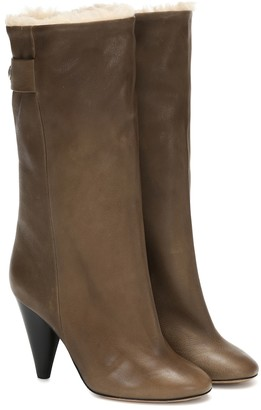 Isabel Marant Lafkee 90 shearling-lined ankle boots