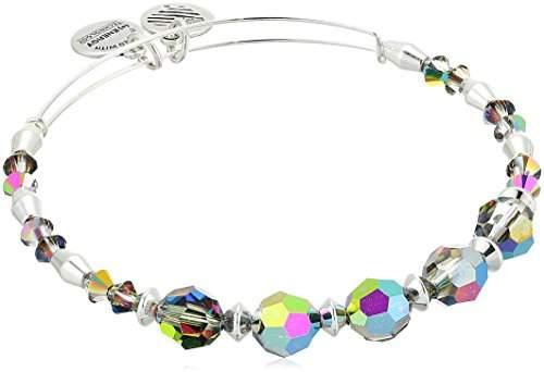 Alex and Ani Swarovski® Crystal Beaded, Mirror Expandable Beaded Bracelet, Shiny Silver-Tone