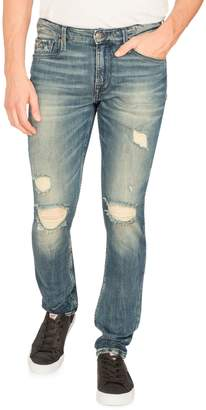 GUESS Slim Tapered Distressed Jeans