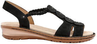 ara Hawaii 27217 Black Nubuk Sandal