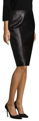 BOSS Sepama Leather Pencil Skirt