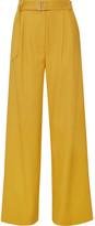Tibi Stella Twill Wide-leg Pants - Marigold