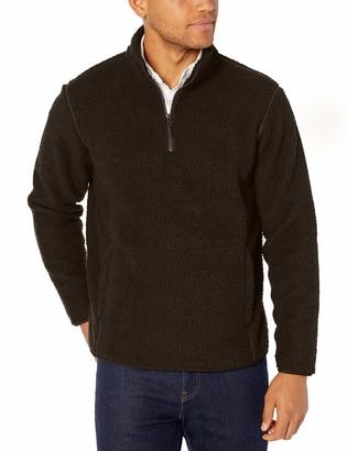 Amazon Essentials Men's Sherpa Fleece Quarter-Zip Pullover