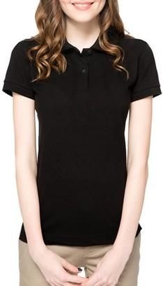 Lee Uniforms Juniors' Plus Short Sleeve Stretch Pique Polo