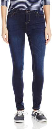 Celebrity Pink Jeans Women's Super Soft Short Inseam Skinny Jeans Queen Dark 13