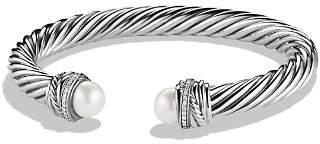 David Yurman CrossoverTM Bracelet with Pearls and Diamonds
