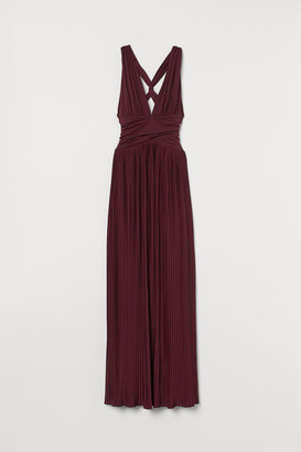 H&M Pleated Maxi Dress - Red