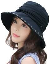 Siggi Bucket Boonie Cord Brim Hat Fishing Hiking Cap Tencel Cotton for Women UPF50+ Beige