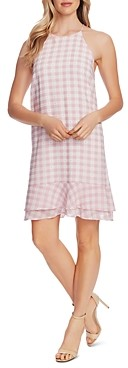 CeCe Tiered Gingham Dress