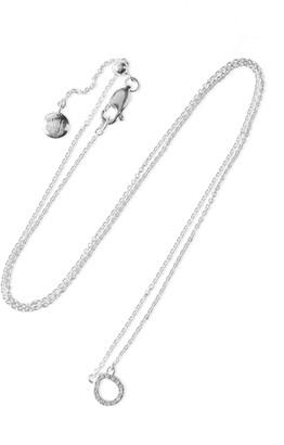 Monica Vinader Naida Mini Sterling Silver Diamond Necklace