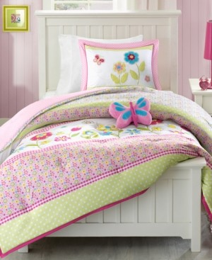 Mi Zone Kids Spring Bloom 3-Pc. Reversible Twin Comforter Set Bedding