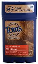 Tom's of Maine Men's Long Lasting Deodorant, Deep Forest, 2.25 Ounce